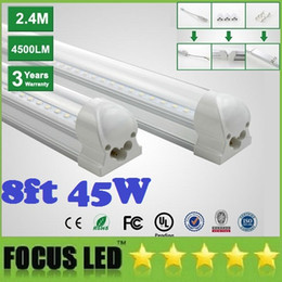Wholesale led tube lights ft ft ft ft Integrated T8 Tube Lights SMD2835 lm W High Bright Frosted Transparent Cover AC V UL