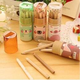 Wholesale-Korean cute mini bear 12 small pencil drawing pen color pen color pencil coloring