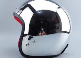 Cascos de carreras de la vendimia en venta-Venta al por mayor de 2015 nueva motocicleta casco capacete / Plateado cara abierta del casco cascos para moto / casco de motocicleta de la vendimia / casco de carreras