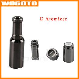 Wholesale Dual coil Skillet D Generation Atomizer Ceramic stencil Coils metal drip tip wax Dry Herb atomizer vaporizer