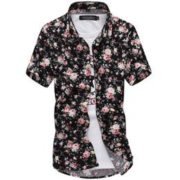New 2016 Fashion Mens Hawaiian Shirts Male Short Sleeve Slim Fit Beach Floral Shirt Men Business Casual Dress Shirt Camisa Homme