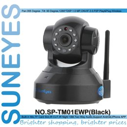 Wholesale SunEyes SP TM01EWP ONVIF Smart Surveillance Wireless IP Camera H IR Cut and P HD Network Camera