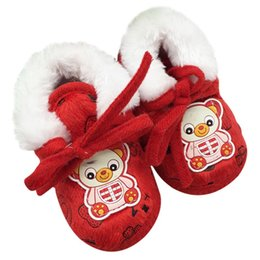 Wholesale Child Winter Boots Toddler Non Slip Soft Sole Prewalker Crib Baby Shoes Snow Boots Hot Selling