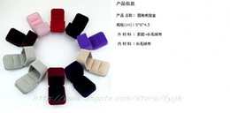 Favor Bag Wholesale Multi colors Jewelry Box, velvet Ring Box, Earrings Box 5*6*4.5 Packing Gift Box Free Shipping