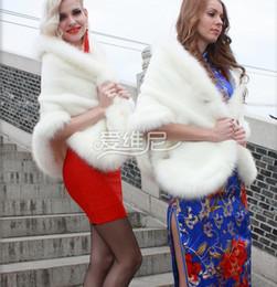 Stole Shawl Shrug Bridal Prom Bolero Cape Wedding Wrap Ladies Evening Party White Faux Fur Regular Size Fashion Vintage Hot New Arrivals