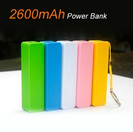 Wholesale Colorful Universal Mini Power Bank With Key Chain Recharger Battery Charger for Samsung for HTC for Huawei all cellphones