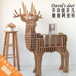 Wholesale Creative home furnishing practical side of several racks of elk wooden shelf coffee table Console Tables