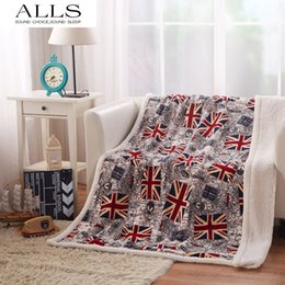 Wholesale throw blanket pokryvalo i pledy UK flag blanket double layer blanket on bed flannel blanket barcelona kids children adult