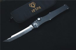 Wholesale VESPA folding knifeMicrotech HALO V T E D2 blade material and handle material aluminum outdoor hand tools EDC