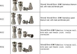 Promotion seaux de miel Titanium Nail 4 en 1 et 6 en 1 Domeless Titanium Nails Nail Titan miel seaux avec Homme et Femme mixte