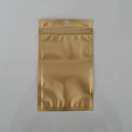 "Wholesale 9*15cm (3.5*5.9"") Golden   Clear Self Seal Zipper Plastic Retail Package Packaging Bag Zip Lock Bag Retail Packing W  Hang Hole"
