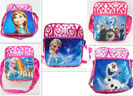 Enfants enfants sacs à bandoulière à vendre-Enfants Cartoons Messager Sacs Frozen isolés sacs à lunch princesse Elsa Sacs à main enfants Simple épaule école Sacs cadeaux 5 Styles à vendre