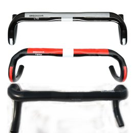 Wholesale 3 colors UD carbon fiber road bicycle handlebar carbon cycling bike parts road bike handlebars t handle bend bar mm