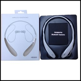 Wholesale N HBS800 HBS HBS HBS HBS902 HBS Wireless Bluetooth sports headsets headphone necksets for samsung S5 S6 iphone plus