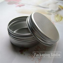 Wholesale 40g Cosmetic Aluminum Jars Lip Balm Cream Sample Packaging Metal Containers Bottle