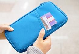 Wholesale-NEW WELL Travel Passport ID Card Key Hand Zipper Case Bag Pouch Wallet