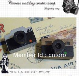 Wholesale-stamp Free shipping vintage LOMO Camera wood stamp Decorative stamp DIY stamp gift dropship