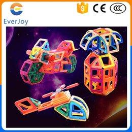 EverJoy Kids Toys Educational Magnetic Blocks 95 PCS Magnetic Toy Hexagonal Triangle Square 3D DIY Building Blocks Free Shipping