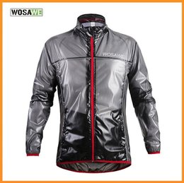 Acheter en ligne Vélo vélo veste de manteau de pluie-Haute Qualité WOSAWE Sports de plein air imperméable à l'eau pluie cyclisme vélo vélo Running Jacket Coat Jersey Superlight