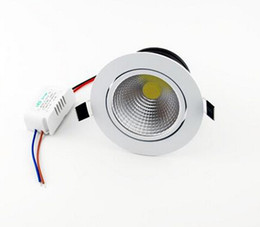 AC 85-265V Dimmable Led Down Lights COB 9W High Power Led Downlights Recessed Ceiling downLights + Power Drivers