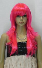 free shipping***** New Fashion Charming Bright pink Long Straight Women's Wig HC-23503