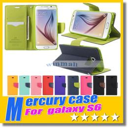 Avec détail paquet luxe Mercury Wallet portefeuille Stand lot TPU hybride doux cas Flip couvrir pour Iphone 6 plus 5/5 s 4/4 s S3 S4 S5 S6 bord à partir de mercure cas s4 fournisseurs
