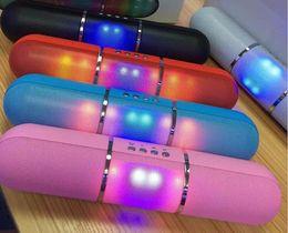 Bluetooth Pills Led Flash Lighting X70 Portable Wireless Bluetooth Speaker Bulit-in Mic Handsfree speakers Support FM phone call Free DHL