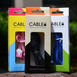 Usb de la caja de plástico en Línea-Teléfono Cables USB Paquete de plástico de plástico Paquete Universal Cajas de embalaje Cajas de colores Acerca de 1-2m Para Iphone Samsung Mini Teléfono Cables USB Caja