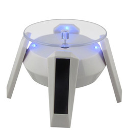Wholesale Solar Power Product Leg Solar Rotating Display Stand Spaceship shaped Green energy Promotion Best Solar Gift item