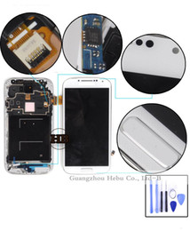 Wholesale lowest price on the web Inches s4 i9500 lcd For Samsung Galaxy s4 i9500 i9505 Lcd display touch digitizer frame ADVANCE SALE