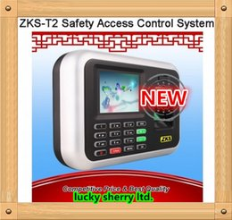 Wholesale ZKS T2 Fingerprint Time Attendance Access Control System networking remote attendance punch card machine USB Software transfer