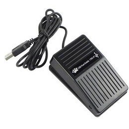 Wholesale New Hot Selling USB Foot Switch Pedal Switch HID PC Computer USB Action Control Keyboard for Game Gaming