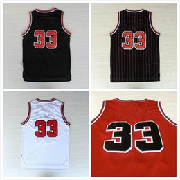 Wholesale 33 Scottie Pippen Jersey Cheap Basketball Jersey Scottie Pippen New Rev Embroidery Logo Mens Free fast Shipping
