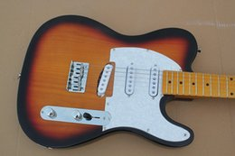 Wholesale New Arrival Telecaster Vintage Maple Fingerboard Sunburst Pickups tele Electric Guitar Chrome Hardware