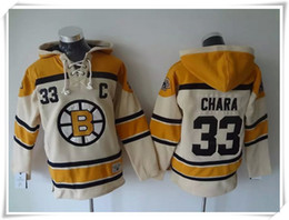 Maillots de sport à vendre-Hoodies Maillots Hommes ICE Hockey Bruins # 33 Chara Camo Meilleur coutures de qualité Maillots de sport Maillot Mix