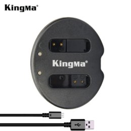 KingMa for Canon NB12L Battery Double (Dual) Charger PowerShot G1 X Mark II G1X Mark 2 PowerShot N100 N100 VIXIA mini X