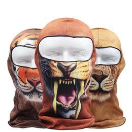 Wholesale 3D Animal Real Tree Active Outdoor Sports Bicycle Cycling Motorcycle Masks Ski Hood Hat Veil Balaclava UV Protect Neck Full Face Mask