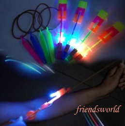 Wholesale Novelty Children Toys Amazing LED Flying Arrow Helicopter for Sports Funny Slingshot birthday party supplies Kids Gift
