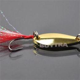 Buena Pesca Lure Calidad Nueva Artificial cebos gancho Bait Agudos Feather lentejuelas Fish Swimbait señuelos de pesca de oro de plata desde buena pesca fabricantes