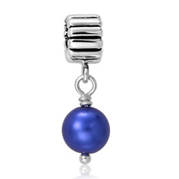 925 Silver Pendants Charms Snake Chain With a Large Blue Gemstone New Fashion Women fit Pandora Beads European Charm Jewelry