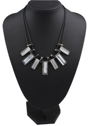 Double Rope Chain Geometric Necklaces & Pendants Collier Femme Statement Necklace for Women Colar Vintage Collar Mujer Bijoux