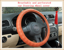 Universal Breathable and perforated automobiles Steering wheel cover suitable for 38cm car styling