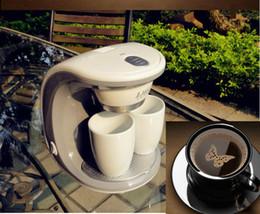 Wholesale 2Cups Espresso Cappuccino W Machine Latte Electric Double Serve Drip Coffee Maker Household Kitchen Appliances