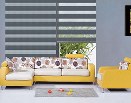Custom Made Luxury Translucent Roller Zebra Blinds in Navy Blue Fold Curtains for Living Room 4 Colors are Available