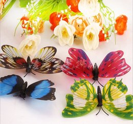 Wholesale 10cm Luminous butterfly fridge magnet magnetic simulation luminous butterfly