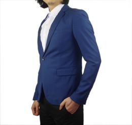 Wholesale-Gentleman PU Shoulder Royal Navy Blue Suit Jacket Boy Party Blazer For Men Wedding Party Blazers Kingsman Casual Blazer Jackets