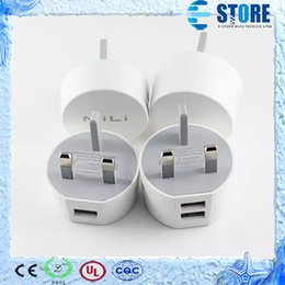 Wholesale 2015 Newest Mili Wall Charger UK Plug Portable Charger Mili Dual USB Car Charger