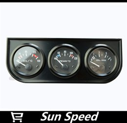 Wholesale Water Temp Oil temp Oil Pressure Gauge New in Triple Gauge Kit Black Color With Temp Pressure Sensor