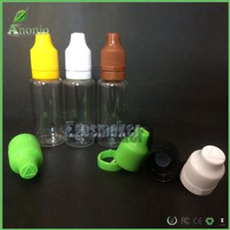 Wholesale 5ml ml ml m ml ml Plastic Squeezed PET Proof Dropper Bottle Childproof Tamper Evident Dropper Empty Bottles E Liquid Oil Bottle