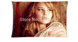 Wholesale Cool Pillowcase Cademy Award Winning Actress Jennifer Lawrence Style Pillow Case Twin Sides x30 Inch